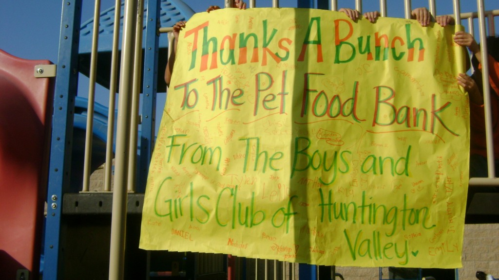 A thank you from the Boys and Girls Club